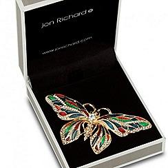 Jon Richard - Multicoloured enamel butterfly brooch