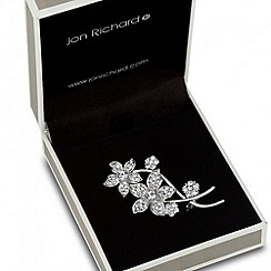 Jon Richard - Multi flower crystal set brooch