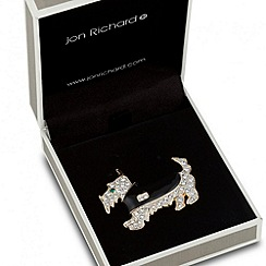 Jon Richard - Crystal embellished scotty dog brooch