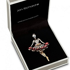 Jon Richard - Purple peardrop encased dancer brooch