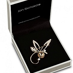 Jon Richard - Orange cubic zirconia butterfly wing brooch