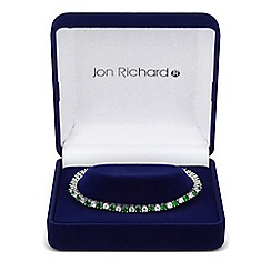 Jon Richard - Green and clear cubic zirconia tennis bracelet