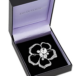 Jon Richard - Mixed stone cluster floral brooch