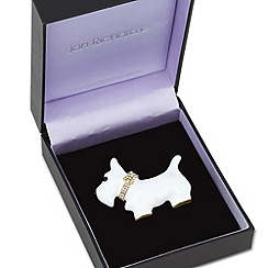 Jon Richard - White enamel scotty dog brooch