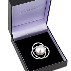 Jon Richard - Pearl and crystal multi ring brooch