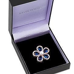Jon Richard - Pearl and blue peardrop flower brooch