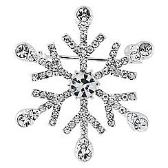Jon Richard - Cubic zirconia snowflake brooch