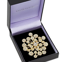 Jon Richard - Crystal encased circular cluster brooch