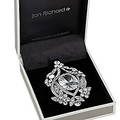 Jon Richard - Vintage style oval stone set brooch