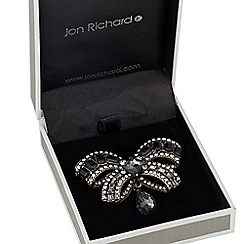 Jon Richard - Victorian style embellished bow brooch