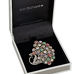 Jon Richard - Multicoloured peacock tail brooch