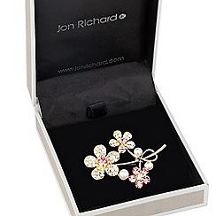 Jon Richard - Aurora borealis triple flower brooch