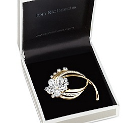 Jon Richard - Crystal daisy curved brooch