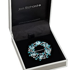 Jon Richard - Blue stone embellished wreath brooch