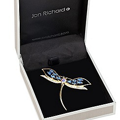Jon Richard - Blue navette encased dragonfly brooch