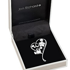 Jon Richard - Polished crystal encased heart brooch