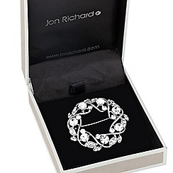 Jon Richard - Crystal embellished open wreath brooch