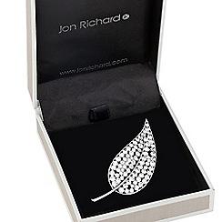Jon Richard - Crystal embellished leaf brooch