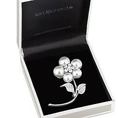 Jon Richard - Large pearl flower sprig brooch