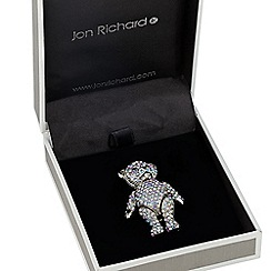 Jon Richard - Aurora borealis crystal embellished teddy brooch