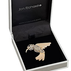 Jon Richard - Crystal embellished hummingbird brooch