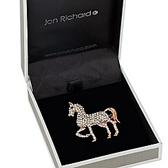 Jon Richard - Crystal embellished horse brooch