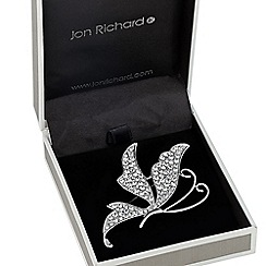 Jon Richard - Crystal embellished butterfly brooch