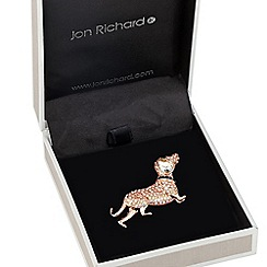 Jon Richard - Aurora borealis encased sausage dog brooch