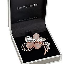 Jon Richard - Catseye effect crystal flower brooch