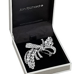 Jon Richard - Statement crystal embellished bow brooch