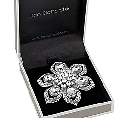 Jon Richard - Statement crystal peardrop flower brooch
