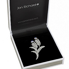 Jon Richard - Crystal embellished tulip brooch
