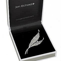 Jon Richard - Crystal embellished double leaf brooch