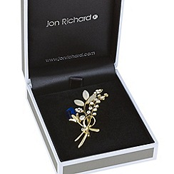 Jon Richard - Gold crystal sprig brooch