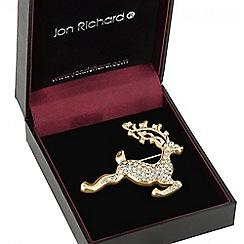 Jon Richard - Gold reindeer brooch