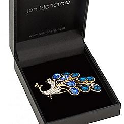 Jon Richard - Blue crystal peacock brooch