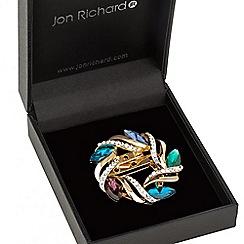 Jon Richard - Multi colour crystal wreath brooch