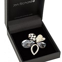 Jon Richard - Gold crystal multi shape brooch