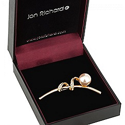 Jon Richard - Rose gold pearl twist brooch