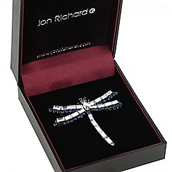 Jon Richard - Blue crystal dragonfly brooch