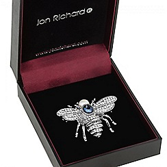 Jon Richard - Silver pearl bug brooch