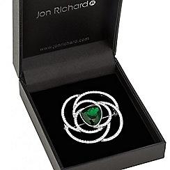 Jon Richard - Green crystal swirl brooch