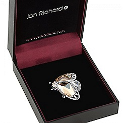 Jon Richard - Small crystal bug brooch