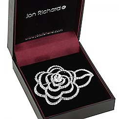 Jon Richard - Crystal open rose brooch