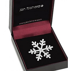Jon Richard - Silver crystal snowflake brooch