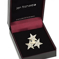 Jon Richard - Gold triple star crystal brooch
