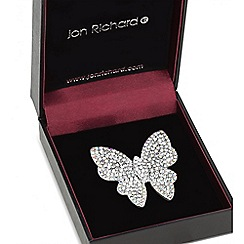 Jon Richard - Rose gold aurora borealis crystal butterfly brooch