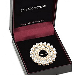 Jon Richard - Pearl and crystal wreath brooch
