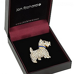 Jon Richard - Gold crystal scotty dog brooch