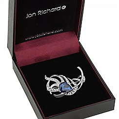 Jon Richard - Blue stone peacock feather brooch